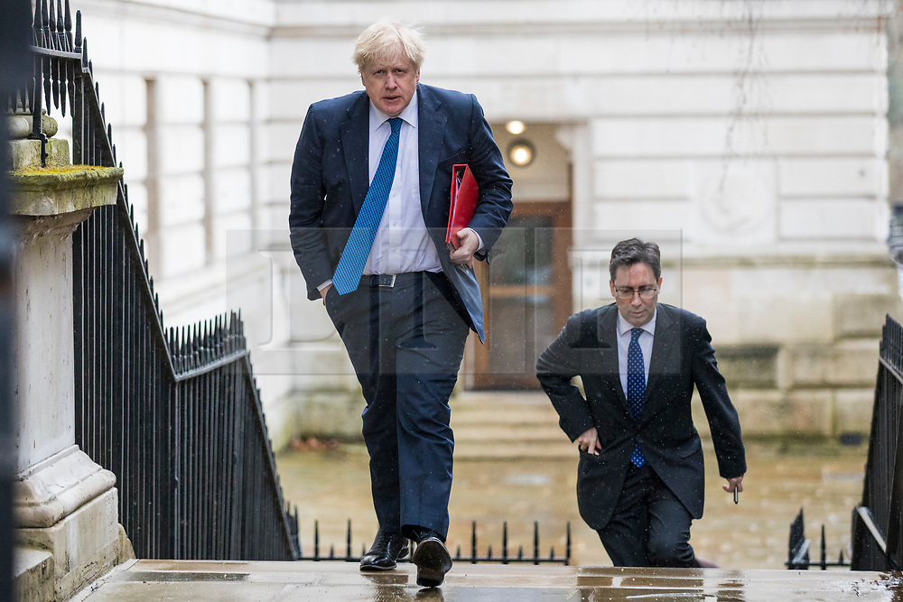 © Licensed to London News Pictures. 12/03/2018. London, UK. Foreign Secretary Boris Johnson on Downing Street ahead of a National Security Council meeting where the Salisbury spy incident is to be discussed. Photo credit: Rob Pinney/LNP