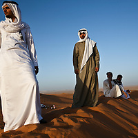 Nader al-Mutairi, left, 25, and his cousin Enad al-Mutairi, 20, in the desert in Al Thumamah on the outskirts of Riyadh. Nader and Enad are among several dozen Mutairi cousins who have been friends and confidants since childhood. Nader is engaged to be married to Sarah, one of Enad's sisters. March 2008.