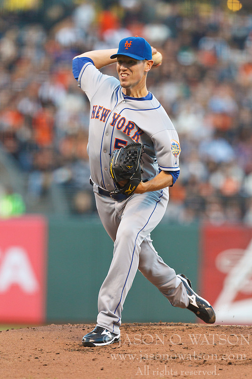 SAN FRANCISCO, CA - JULY 30: Jeremy Hefner #53 of the New York Mets pitches against the San Francisco Giants during the first inning at AT&T Park on July 30, 2012 in San Francisco, California. (Photo by Jason O. Watson/Getty Images) *** Local Caption *** Jeremy Hefner