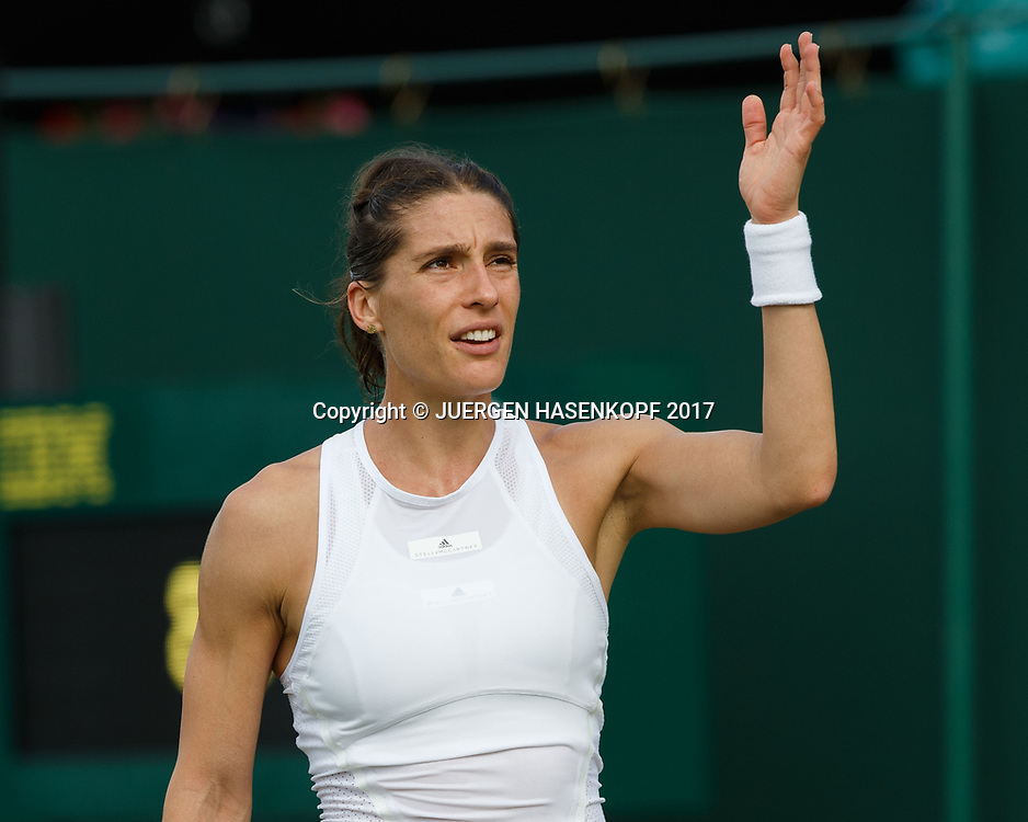 ANDREA PETKOVIC (GER) reagiert veraergert,Frust,Emotion,<br /> <br /> Tennis - Wimbledon 2017 - Grand Slam ITF / ATP / WTA -  AELTC - London -  - Great Britain  - 3 July 2017.