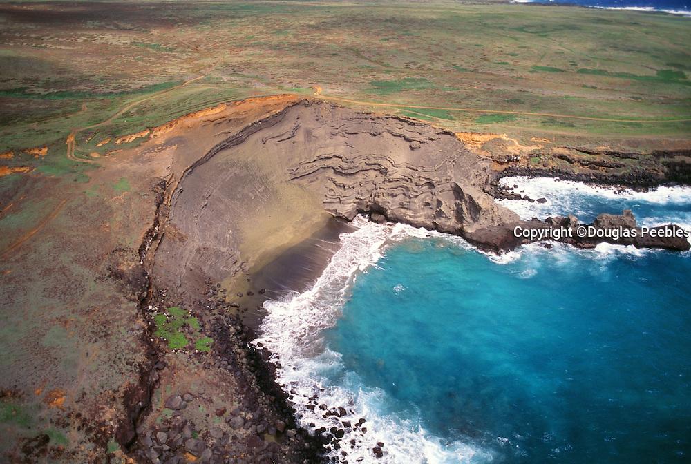 Green Sand Beach, South Point, Island of Hawaii, Hawaii