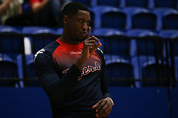 Fred Thomas of Bristol Flyers during the warm up - Photo mandatory by-line: Arron Gent/JMP - 28/09/2019 - BASKETBALL - Crystal Palace National Sports Centre - London, England - London City Royals v Bristol Flyers - British Basketball League Cup