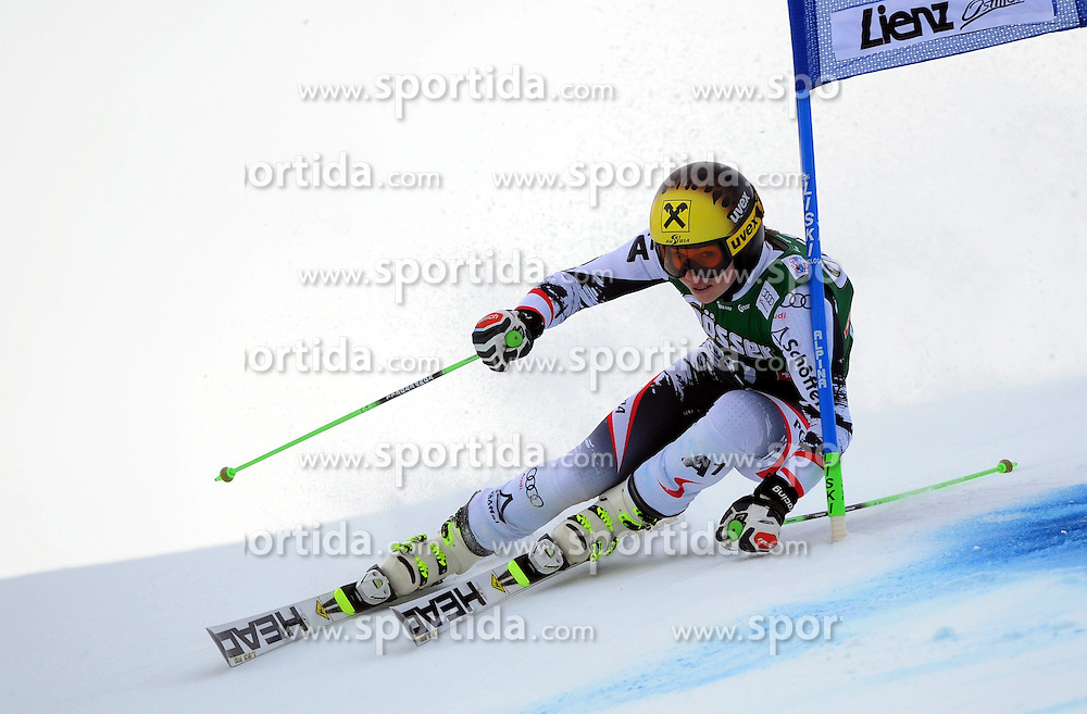 28.12.2013, Hochstein, Lienz, AUT, FIS Weltcup Ski Alpin, Lienz, Riesentorlauf, Damen, 1. Durchgang, im Bild Anna Fenninger (AUT) // Anna Fenninger (AUT) during the 1st run of ladies giant slalom Lienz FIS Ski Alpine World Cup at Hochstein in Lienz, Austria on 2013/12/28. EXPA Pictures © 2013, PhotoCredit: EXPA/ Erich Spiess