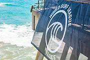 World Surf League Signage on the Huntington Beach Pier