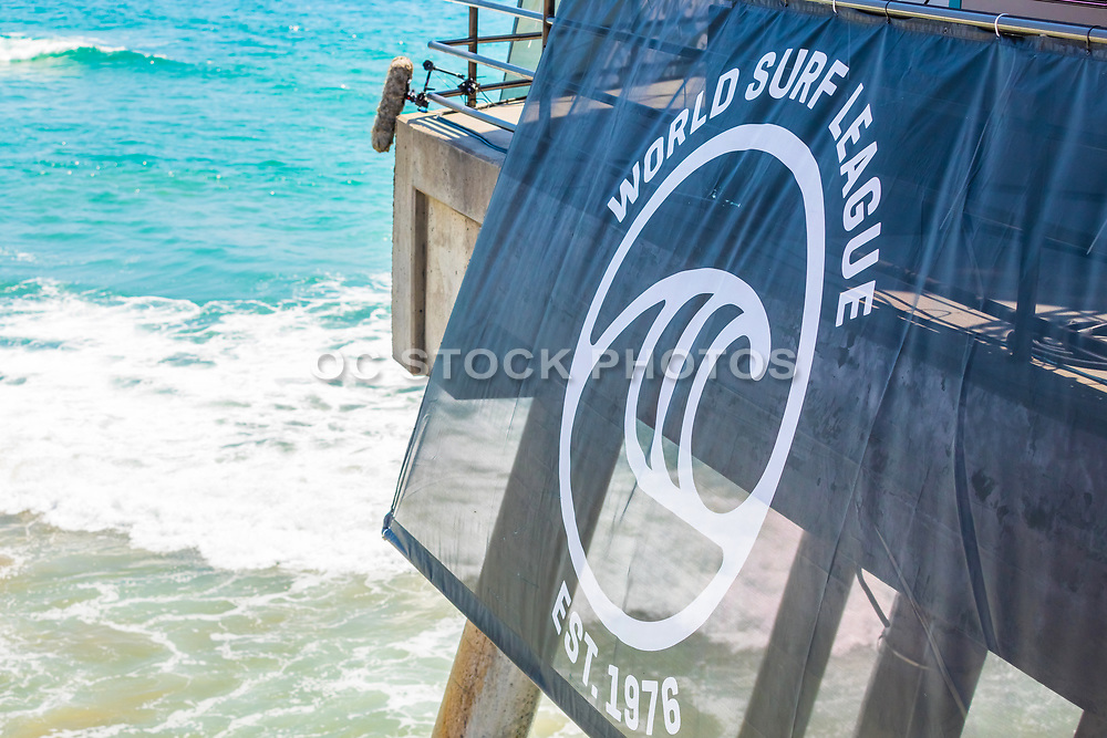 World Surf League Signage on the Huntington Beach Pier