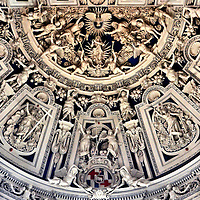 Cathedral of Trier West End Choir Vault in Trier, Germany <br />