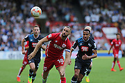 Bristol Aaron Wilbraham (18) during the EFL Sky Bet Championship match between Bristol City and Derby County at Ashton Gate, Bristol, England on 17 September 2016. Photo by Gary Learmonth.