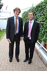 Left to right, LUKE TOMLINSON and JOHN TAYLOR at the 3rd day of the 2008 Glorious Goodwood racing festival at Goodwood Racecourse, West Sussex on 31st July 2008.<br /> <br /> NON EXCLUSIVE - WORLD RIGHTS