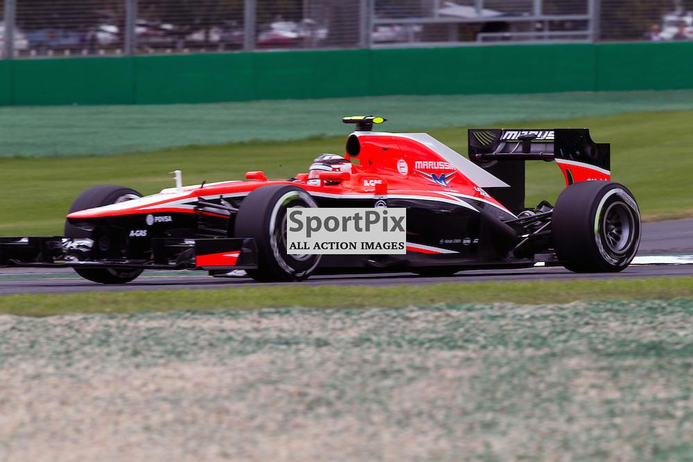 F1 Australian Grand Prix 16 March 2013 Practice Session 3.Practice Session 3. Max Chilton Marussia Team turn 12.(c) MILOS LEKOVIC | StockPix.eu