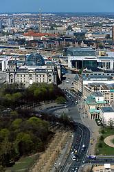 GERMANY BERLIN APR04 - Aerial view of Berlin city centre, Brandenburger Tor.<br /> <br /> <br /> <br /> jre/Photo by Jiri Rezac <br /> <br /> <br /> <br /> © Jiri Rezac 2004