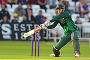 Alex Hales during the Natwest T20 Blast North Group match between Nottinghamshire County Cricket Club and Worcestershire County Cricket Club at Trent Bridge, West Bridgford, United Kingdom on 26 July 2017. Photo by Simon Trafford.