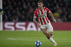 October 4, 2018 - Eindhoven, Netherlands - Gaston Pereiro of PSV controls the ball during the UEFA Champions League Group B match between PSV Eindhoven and FC Internazionale Milano at Philips Stadium in Eindhoven, Holland on October 3, 2018  (Credit Image: © Andrew Surma/NurPhoto/ZUMA Press)
