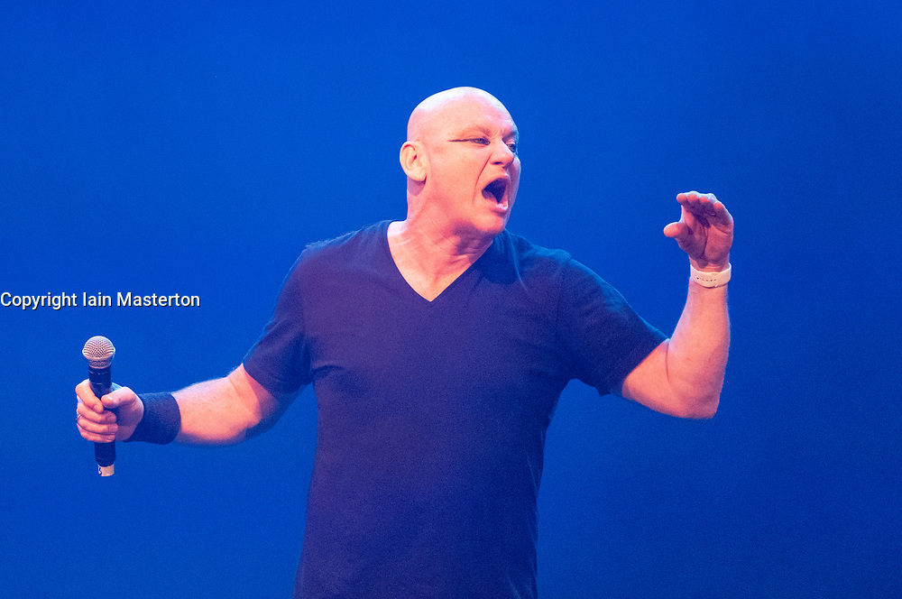 Edinburgh, Scotland, UK; 1 August, 2018. Cabaret acts from the  Assembly Gala Launch - Assembly's renowned opening night gala showcasing this year's programme highlights. Pictured; Terry Alderton: The Musical