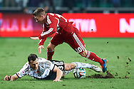 (L) Legia's Tomasz Jodlowiec fights for the ball with (R) Wisla's Lukasz Gargula during T-Mobile ExtraLeague soccer match between Legia Warsaw and Wisla Krakow in Warsaw, Poland.<br /> <br /> Poland, Warsaw, March 15, 2015<br /> <br /> Picture also available in RAW (NEF) or TIFF format on special request.<br /> <br /> For editorial use only. Any commercial or promotional use requires permission.<br /> <br /> Mandatory credit:<br /> Photo by © Adam Nurkiewicz / Mediasport