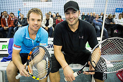 Blaz Kavcic and Marko Milic at Istenic doubles Tournament and Slovenian Tennis personality of the year 2015 annual awards presented by Slovene Tennis Association TZS, on December 12, 2015 in Millenium Centre, BTC, Ljubljana, Slovenia. Photo by Vid Ponikvar / Sportida