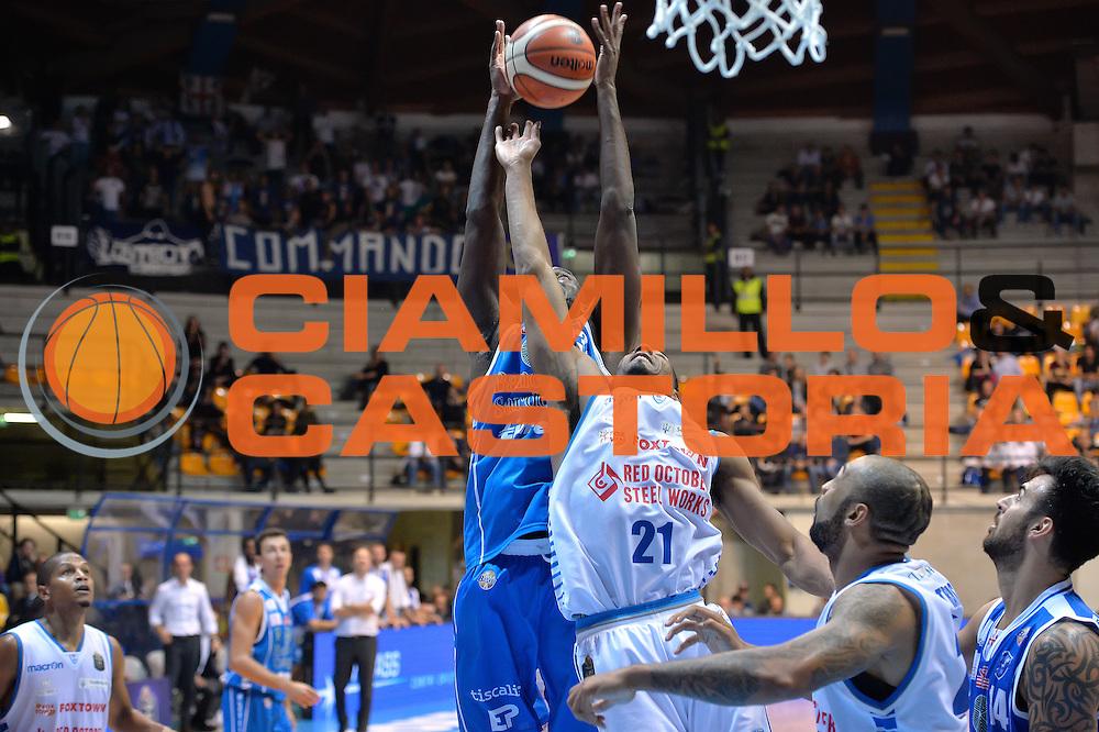 Josh Carter,Tremmell Darden<br /> Red October Cantu' vs Banco di Sardegna Sassari<br /> Basket Serie A 2016/2017<br /> Milano 23/10/2016<br /> Foto Ciamillo-Castoria