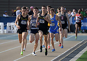 May24, 2018; Sacramento, CA, USA; Matt Stanovsek (1111) and Sam Prakel (1007) of Oregon place first and second in a 1,500m heat in 3:51.76 and 3:51.77 during the NCAA West Preliminary at Hornet Stadium.