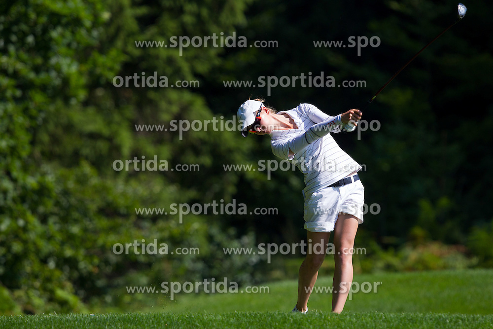 Katja Pogacar of Slovenia during golf competition in day 3 of International European Ladies Amateur Championship 2012, on July 27, 2012 in Smlednik at Ljubljana, Slovenia. (Photo by Grega Valancic / Sportida)