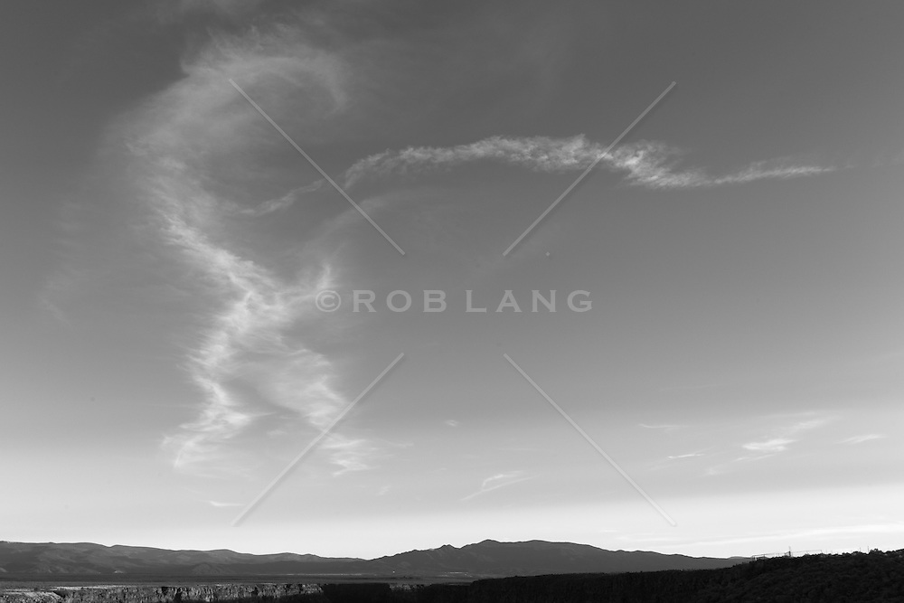 cloud formations over the mountains of Taos, New Mexico