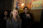 Virginia Dampsta and Tot Taylor, Andrey Bartenev ' Disco-Nexion' Riflemaker. Beak St. Soho. London. 7 January 2008. -DO NOT ARCHIVE-© Copyright Photograph by Dafydd Jones. 248 Clapham Rd. London SW9 0PZ. Tel 0207 820 0771. www.dafjones.com.