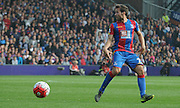Yohan Cabaye looks for options during the Barclays Premier League match between Crystal Palace and West Bromwich Albion at Selhurst Park, London, England on 3 October 2015. Photo by Michael Hulf.