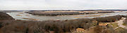 Nebraska NE USA, panorama of the Platte river as seen from the Platte river state park