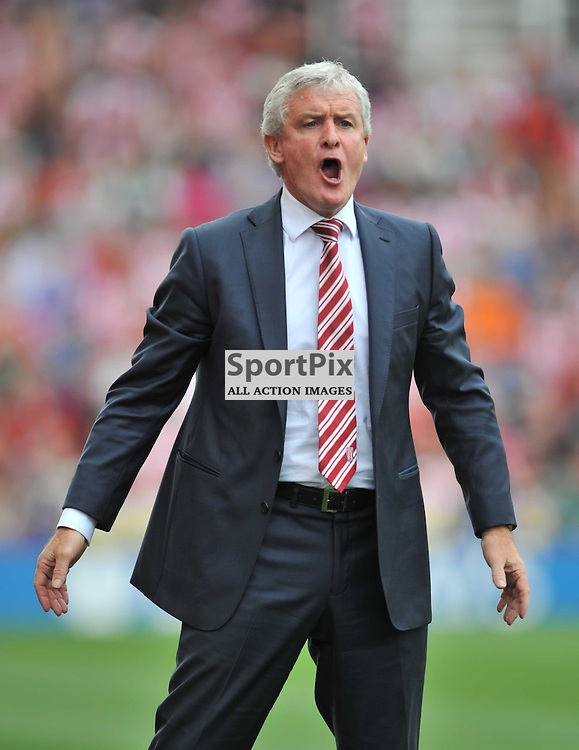 Stoke  Manager Mark Hughes  Stoke City v Liverpool Premiership Brittania Stadium, Sunday 9th August 2015Stoke City v Liverpool Premiership Brittania Stadium, Sunday 9th August 2015
