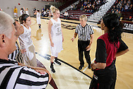 December 8, 2012: The Southern Nazarene University Crimson Storm play against the Oklahoma Christian University Lady Eagles at the Eagles Nest on the campus of Oklahoma Christian University.