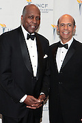 3 March 2011- New York, NY-  l to r: Vernon Jordan and Dr. Michael Lomax at the UNCF ' A Mind is'  Gala held at the Marriott Marquis Hotel on March 3, 2011 in New York City. Photo Credit: Terrence Jennings