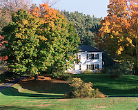 The Samuel Morely House -  inventor of the steamboat - is one of seven historic homes on the ridge at Orford, NH.