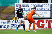 Dundee defender Kevin Holt (#3) prepares to take on Dundee United defender Lewis Toshney (#6) during the Betfred Scottish Cup group stage match between Dundee and Dundee United at Dens Park, Dundee, Scotland on 29 July 2017. Photo by Craig Doyle.