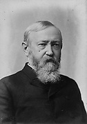 Benjamin Harrison (1833-1901) 23rd  President of the USA (1889-1893). Half-length portrait photograph.