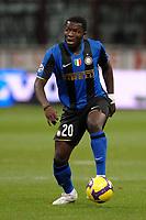 """Sulley Muntari (Inter)<br /> Milano 22/9/2008 Stadio """"Giuseppe Meazza"""" <br /> Campionato di Calcio Serie A 2008/2009<br /> Inter Juventus (1-0)<br /> Foto Andrea Staccioli Insidefoto"""