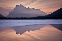 Mount Rundle as seen from Vermillion Lakes in Banff..©2009, Sean Phillips.http://www.Sean-Phillips.com