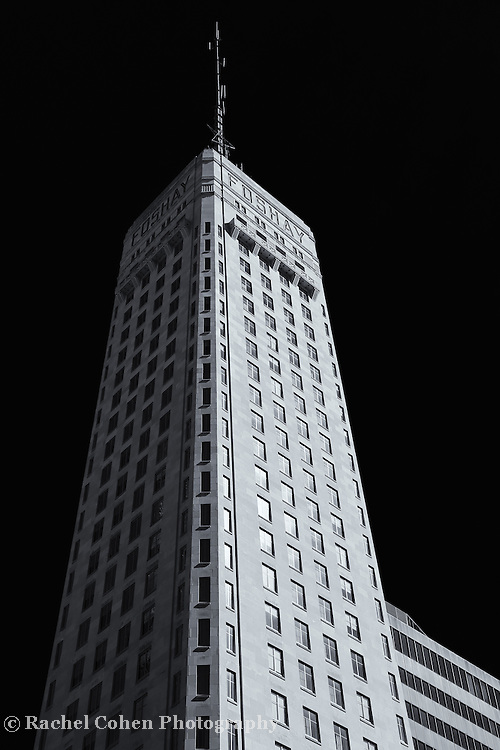 &quot;Faces of Foshay&quot; mono<br /> <br />  The historic Foshay Tower in downtown Minneapolis MN. <br /> <br /> Cities and Skyscrapers by Rachel Cohen