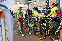 Romy Kasper (GER) of Ale-Cipollini Cycling Team waits for the start of Stage 3 of the Healthy Ageing Tour - a 154.4 km road race, between  Musselkanaal and Stadskanaal on April 7, 2017, in Groeningen, Netherlands.