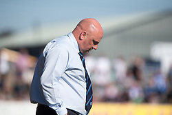 Forfar Athletic's manager Gary Bollan after Anna's fourth goal. Forfar Athletic 2 v 4 Annan Athletic, Scottish Football League Division Two game played 6/5/2017 at Station Park.