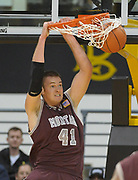 Feb 19, 2011; Long Beach, CA, USA; Montana Grizzlies center Brian Qvale (41) dunks the ball against the Long Beach State 49ers at the Walter Pyramid. Long Beach State defeated Montana 74-56.