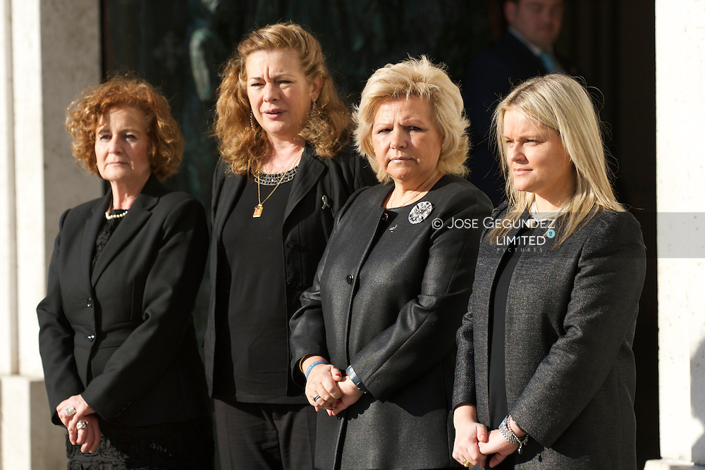 Angeles Dominguez, Pilar Manjon, Angeles Pedraza and Maria del Mar Blanco  attend Solemn Mass honoring and remembering the victims of the 10th annivrsary of the terrorist attacks of March 11, 2004 at Almudena Cathedral on March 11, 2014 in Madrid