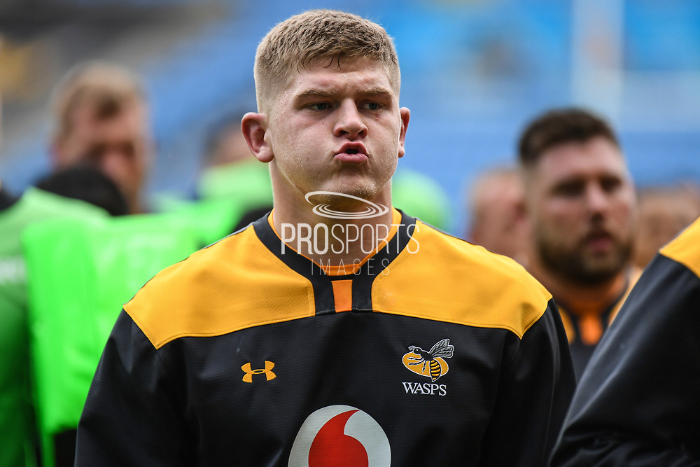 Wasps back row Jack Willis (7) during the Gallagher Premiership Rugby match between Wasps and London Irish at the Ricoh Arena, Coventry, England on 20 October 2019.