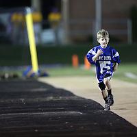 Adam Robison | BUY AT PHOTOS.DJOURNAL.COM<br /> Booneville fan Kole Wildmond runs the sideline before the start of the Booneville vs Nettleton game Thursday night in Booneville.