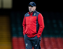 Head Coach Wayne Pivac of Wales<br /> <br /> Photographer Simon King/Replay Images<br /> <br /> Six Nations Round 1 - Wales v Italy -  Captains Run - Friday 31st January 2020 - Principality Stadium - Cardiff<br /> <br /> World Copyright © Replay Images . All rights reserved. info@replayimages.co.uk - http://replayimages.co.uk
