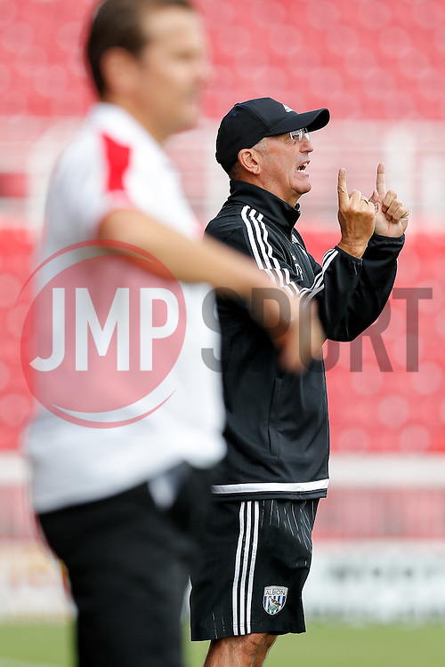 West Brom Manager Tony Pulis - Mandatory byline: Rogan Thomson/JMP - 07966 386802 - 25/07/2015 - SPORT - Football - Swindon, England - The County Ground - Swindon Town v West Bromwich Albion - 2015/16 Pre Season Friendly.