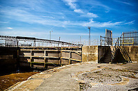 May 2, 2012. Kingston upon Hull, UK. Pictured: Alexandra Dock entrance, lock gates