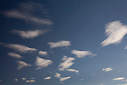 Itaguara_MG, Brasil...Detalhe das nuvens cirrus  no ceu em Itaguara...The cirrus cloud clouds in the sky in Itaguara...Foto: JOAO MARCOS ROSA / NITRO.