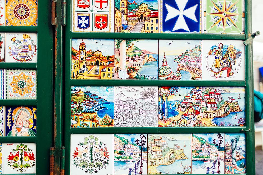 Souvenir tiles in Amalfi, Italy