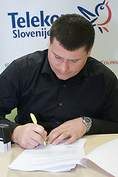 Andrej Hajnsek when Slovenian athletes and their coaches sign contracts with Athletic federation of Slovenia for year 2009,  in AZS, Ljubljana, Slovenia, on March 2, 2009. (Photo by Vid Ponikvar / Sportida)