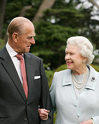 File photo dated 18/11/07 of Queen Elizabeth II and the Duke of Edinburgh in the grounds of Broadlands on their Diamond wedding anniversary. The Royal couple will celebrate their platinum wedding anniversary on November 20.