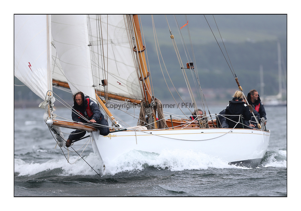 Day two of the Fife Regatta,Passage race to Rothesay.<br /> Viola, Yvon Rautureau, FRA, Gaff Cutter, Wm Fife 3rd, 1908<br /> * The William Fife designed Yachts return to the birthplace of these historic yachts, the Scotland&rsquo;s pre-eminent yacht designer and builder for the 4th Fife Regatta on the Clyde 28th June&ndash;5th July 2013<br /> <br /> More information is available on the website: www.fiferegatta.com