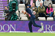 Liam Plunkett of England drops a catch from Ashley Nurse of West Indies off the bowling of Tom Curran of England during the One Day International match between England and West Indies at the Ageas Bowl, Southampton, United Kingdom on 29 September 2017. Photo by Graham Hunt.